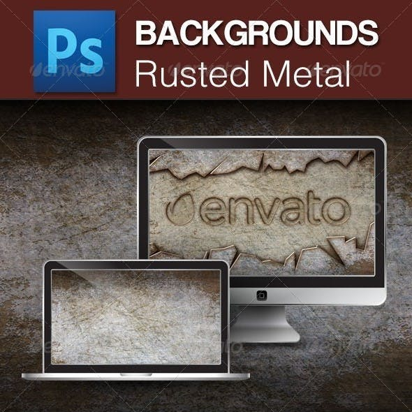 Rusted Metal PSD Backgrounds