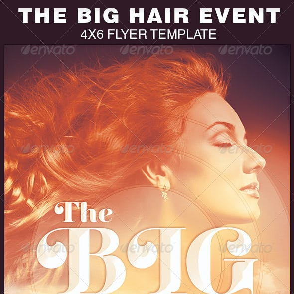 The Big Hair Event Flyer Template