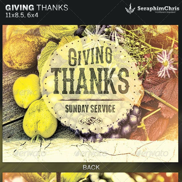 Giving Thanks Fall Church Flyer Template