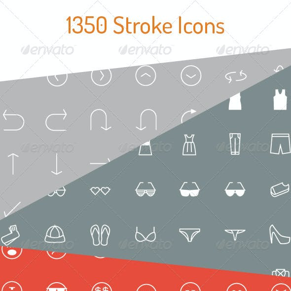 1350 Stroke Icons