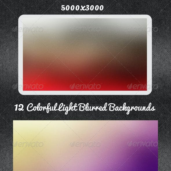 12 Colorful Light Blurred Backgrounds
