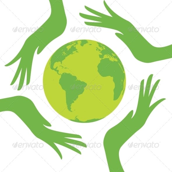 Earth Protected by Hands