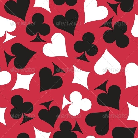 Playing Cards Seamless Background