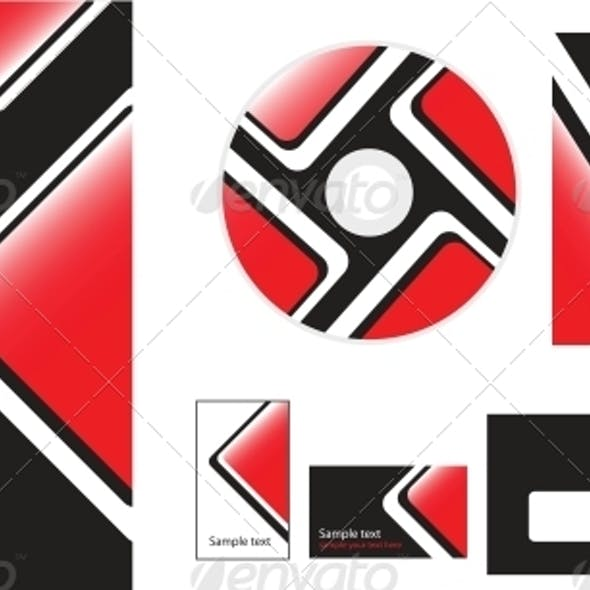 Vector Template for Design Folder Business Card