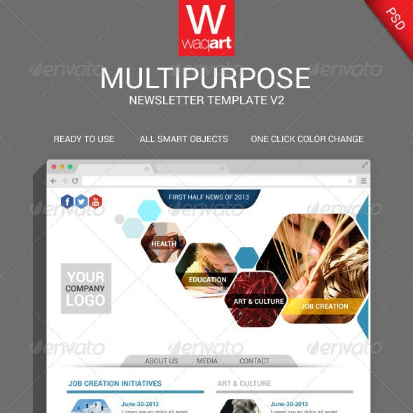 Multipurpose PSD Email Template