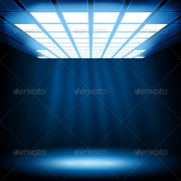 Abstract Blue Light Background - Abstract Conceptual
