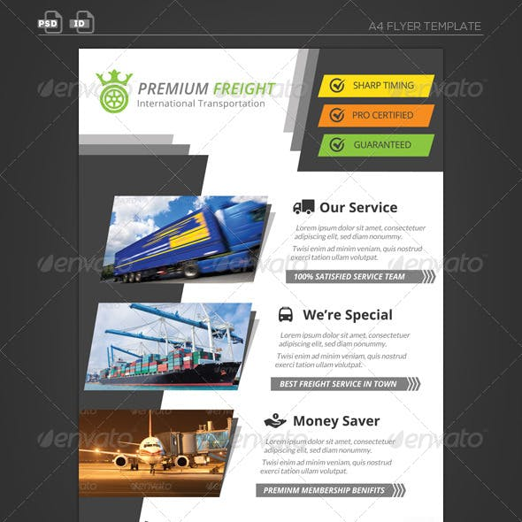 Premium Transportation Business Flyer