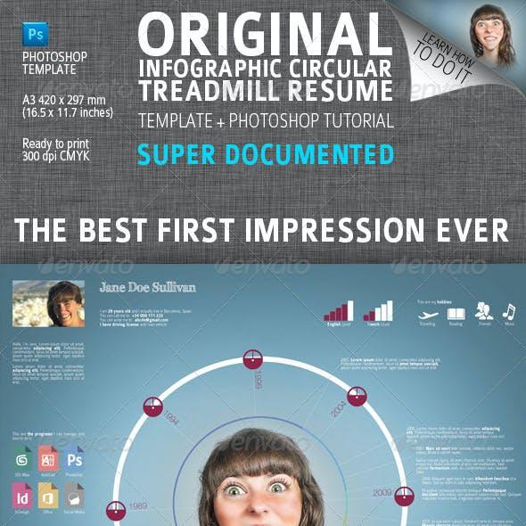 Infographic Circular Treadmill Resume / CV