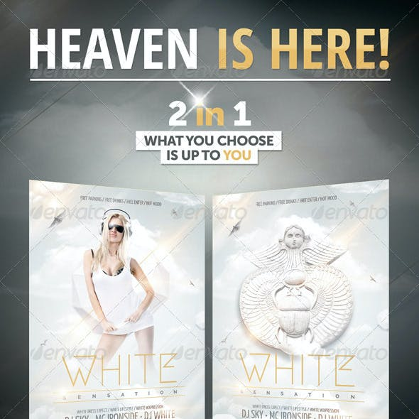 White Sensation Party Flyer