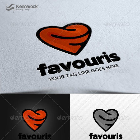 Favouris Logo Template