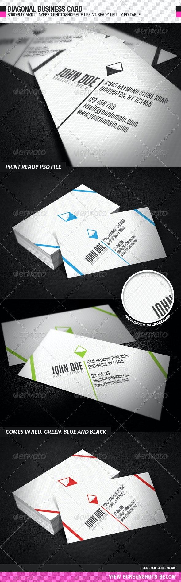 Diagonal Business Card - Creative Business Cards