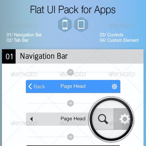 Flat UI Pack for Apps - Build Apps. Beautifully!