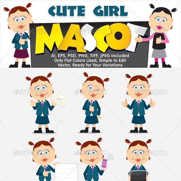 Cute Girl Mascot Kit