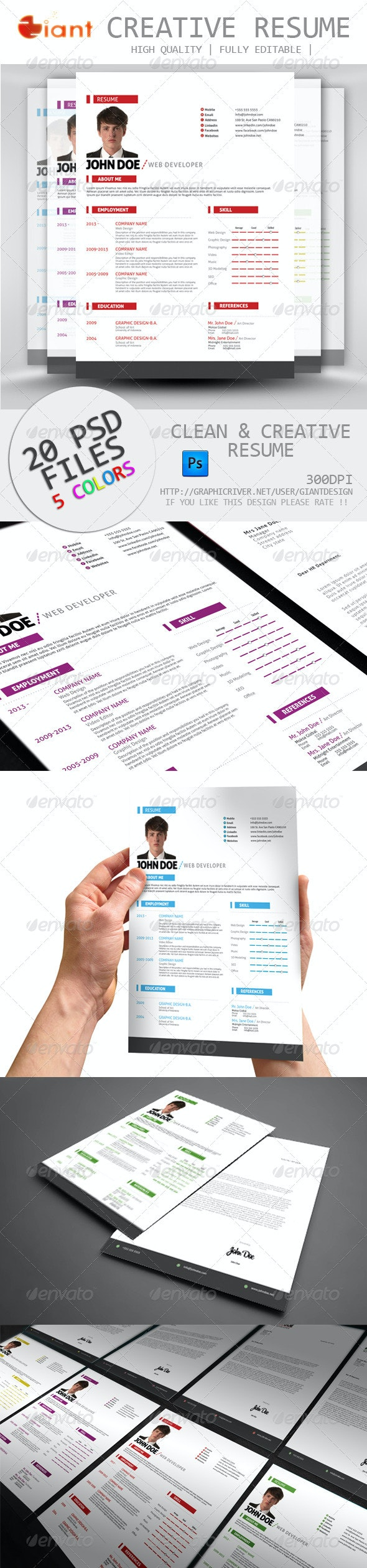 Simple Resume CV Cover Letter - Resumes Stationery