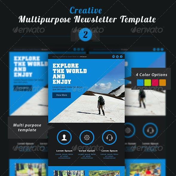 Creative Multipurpose Newsletter PSD Template 2