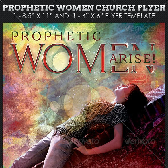 Prophetic Women Church Flyer Template