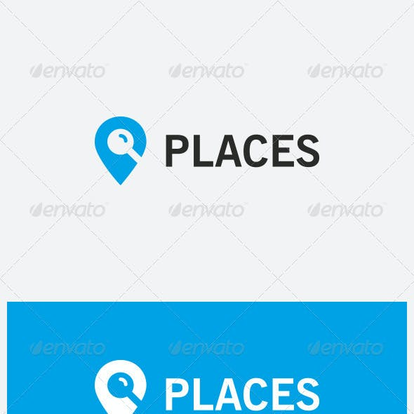 """""""Places"""" - Search Places Logo"""