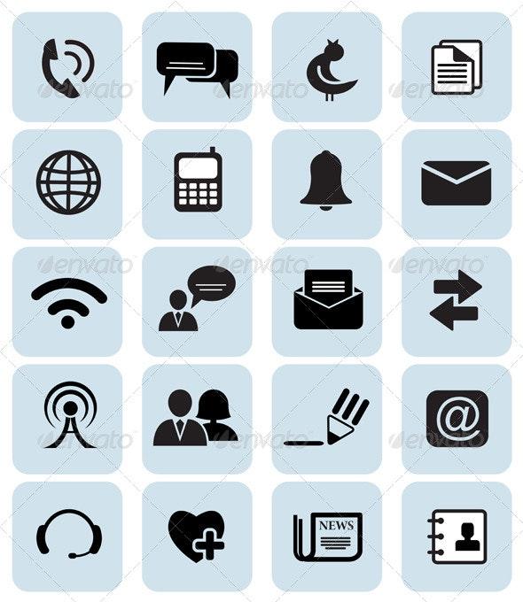 Set of 20 Communication Icons - Icons