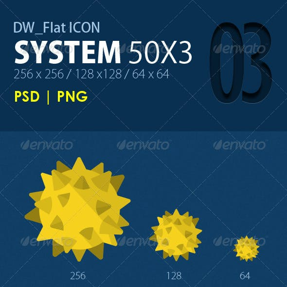 50 Flat ICONs (System)