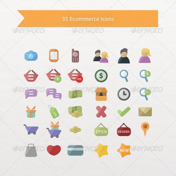 35 Ecommerce Icons