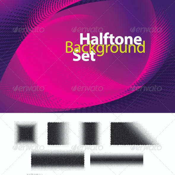 Halftone Background Set