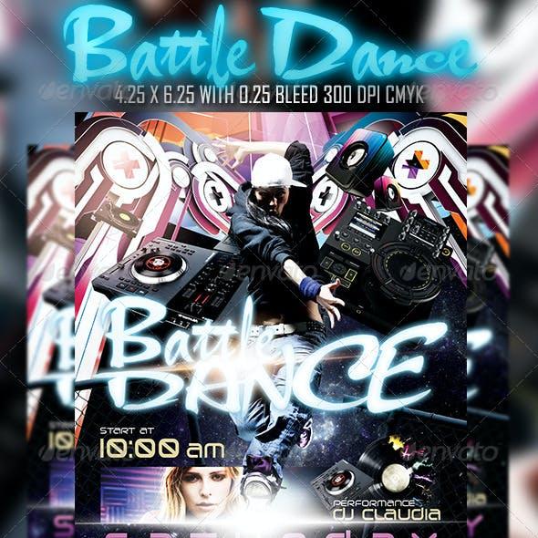 Battle Dance Flyer Template