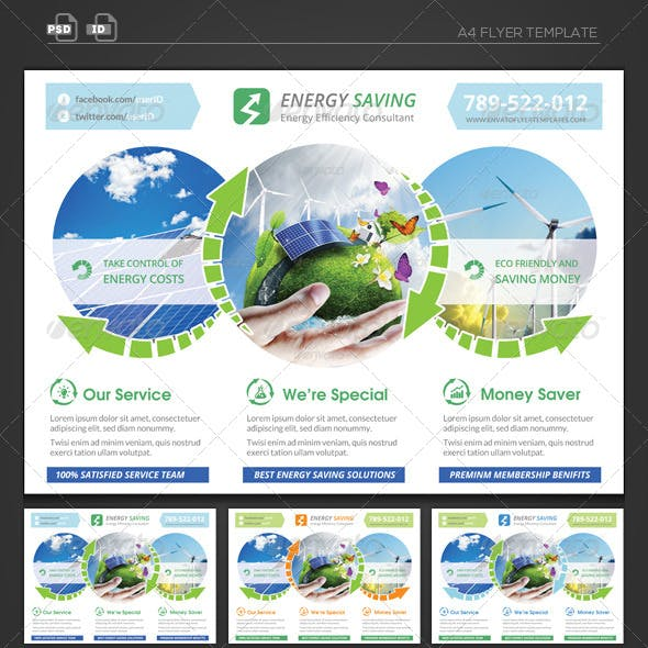 Energy Saving Corporate Flyer