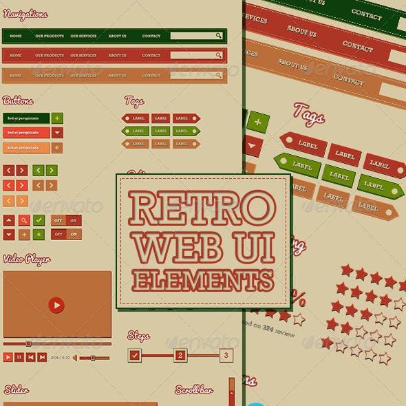 Retro Web UI Elements