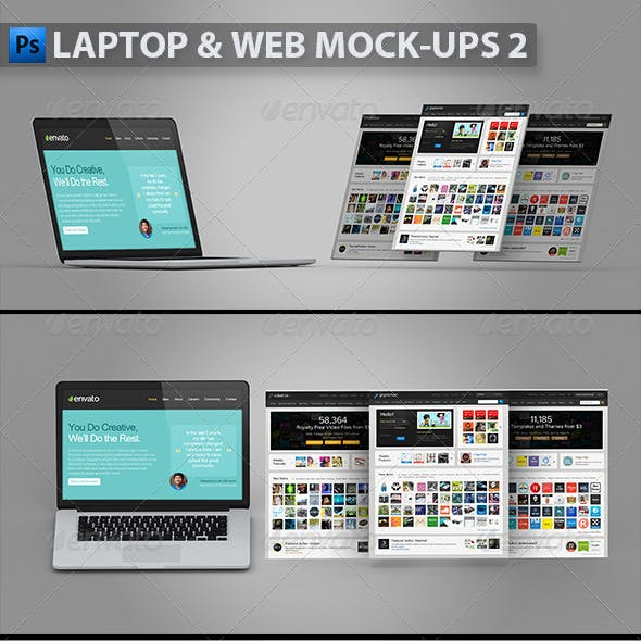Laptop and Web Mock-ups 2