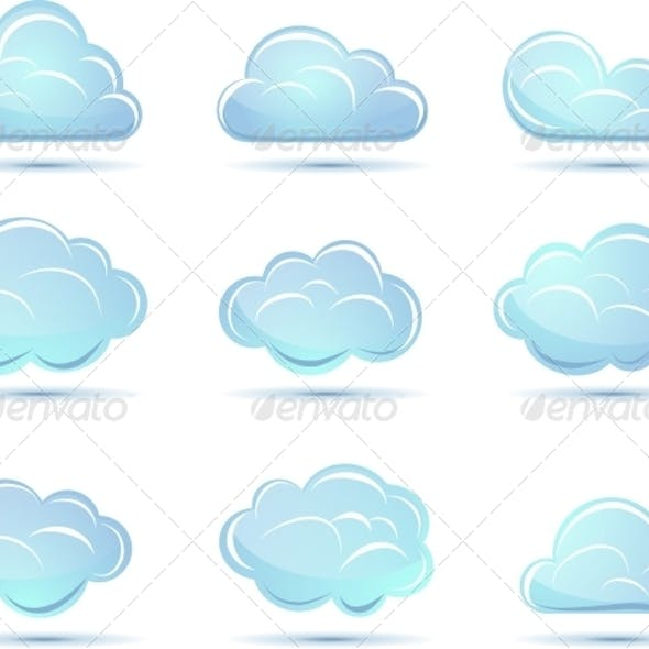 Vector Clouds Collection. Weathers Icon for Design.
