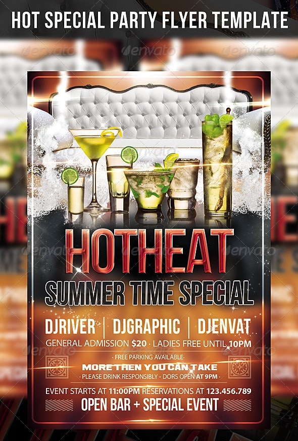 Hot Special Party Flyer Template - Events Flyers