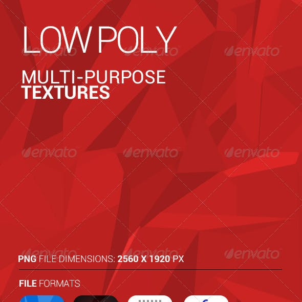 Multi Purpose Low Poly Texture - PSD and PNG