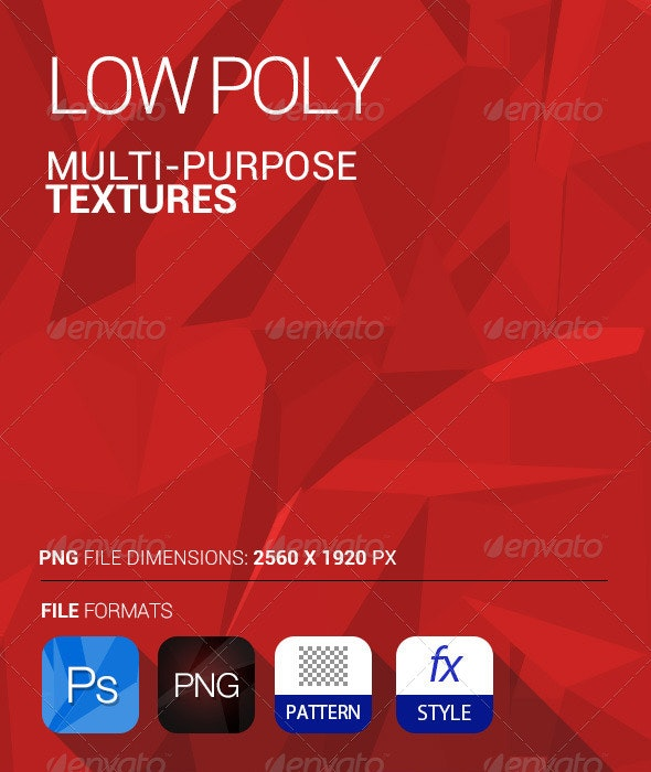 Multi Purpose Low Poly Texture - PSD and PNG - Abstract Textures
