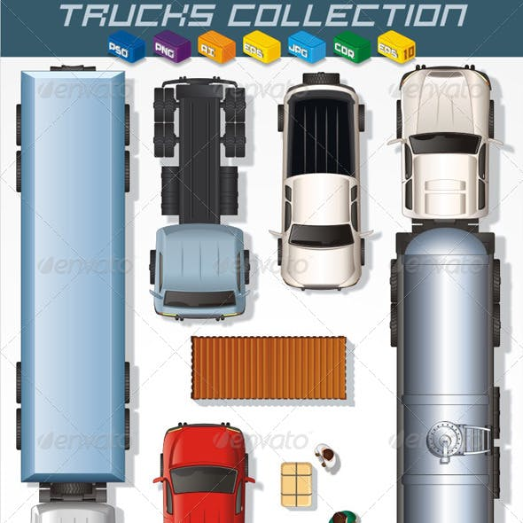 Truck Collection. Vector Graphics