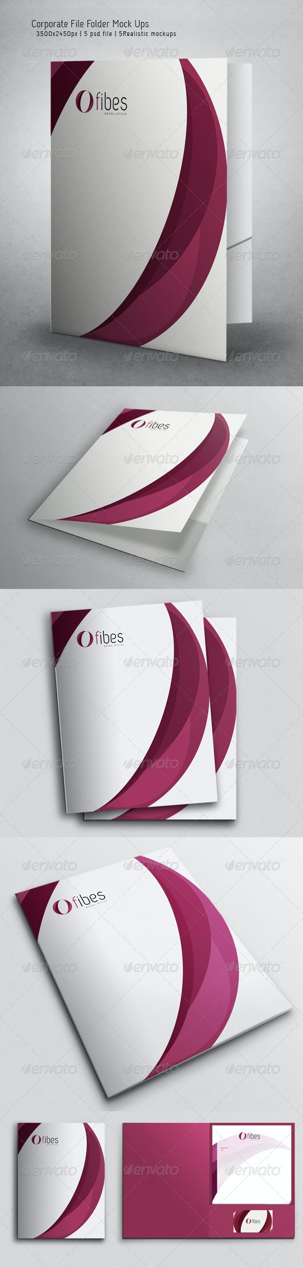 Corporate File Folder Mock Ups - Miscellaneous Print