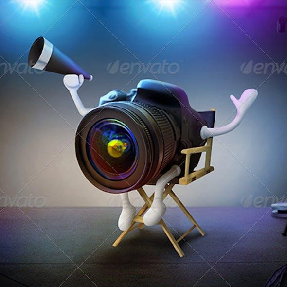 DSLR Director On Movie Set