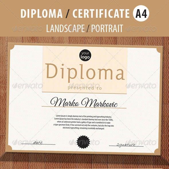 Print Template for Multipurpose Diploma / Certificate