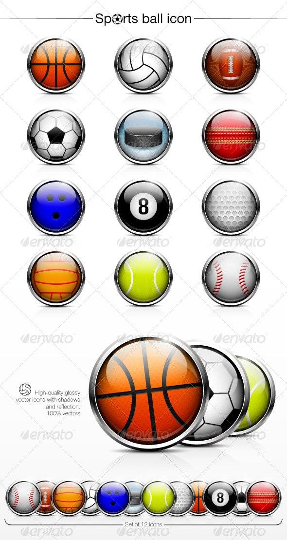 Sports Ball Icon - Sports/Activity Conceptual