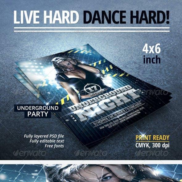Underground Night Party Flyer