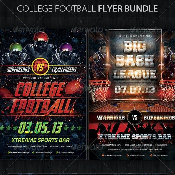 College Football Flyer Bundle