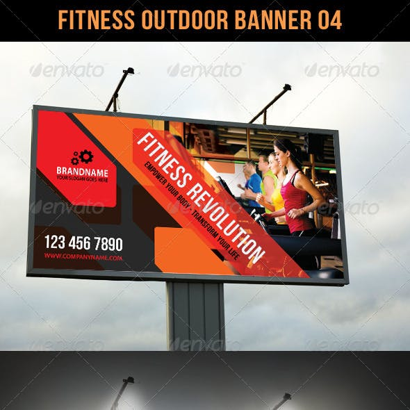 Fitness Outdoor Banner 04