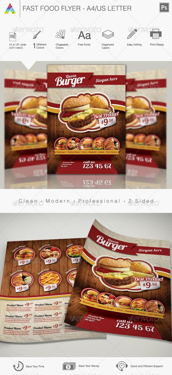 Fast Food Flyer - Print Templates