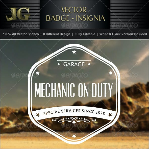 Vector Badge Insignia Collection V1