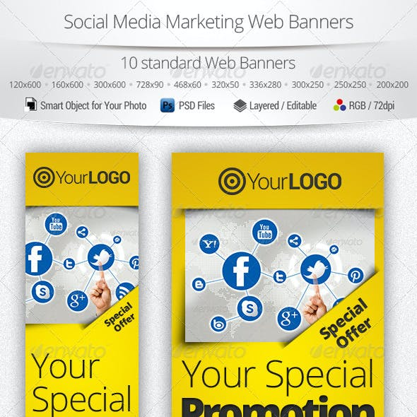Social Media Marketing Web Banners 2