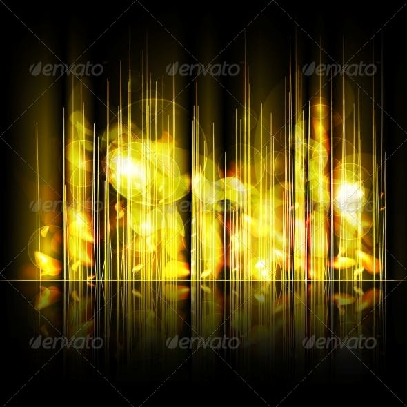 Abstract Yellow Lines Background