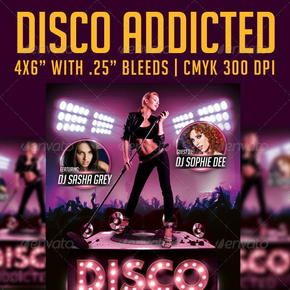 Disco Addicted Flyer Template