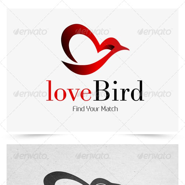 love bird logo template by angrypen graphicriver love bird logo template by angrypen