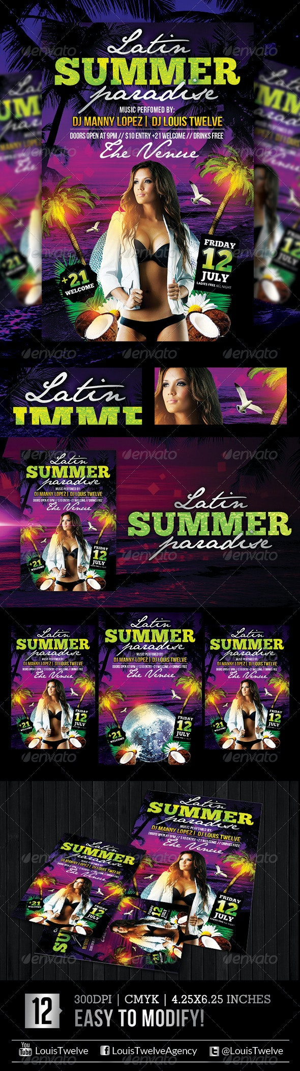 The Summer Paradise | Flyer Template - Clubs & Parties Events