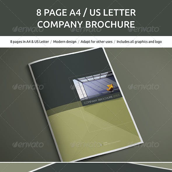 8 Page A4 and US Letter Company Brochure