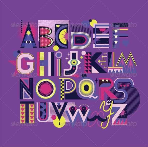 Alphabet Art - Abstract Conceptual